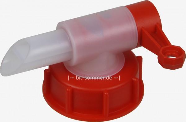 Ausgießhahn mit Überwurfmutter für DIN 51 Gewinde