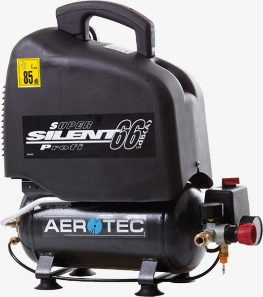Aerotec Vento Silent 6 - 66 dB ölfrei - 230 Volt Kolbenkompressor