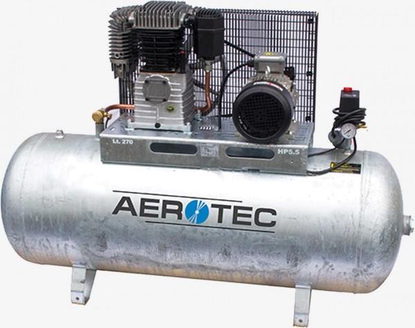 Aerotec 550-200 Z PRO liegend - 400 Volt verzinkt Kolbenkompressor