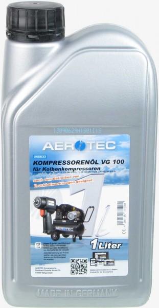 Verdichteröl für Kolbenkompressoren VG 100 in der 1 Liter Flasche
