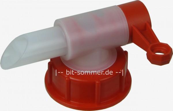 Ausgießhahn mit Überwurfmutter für DIN 50 Gewinde