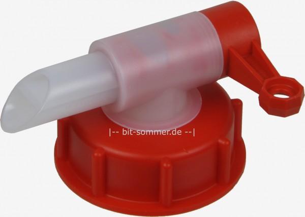 Ausgießhahn mit Überwurfmutter für DIN 61 Gewinde