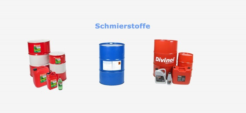 Motorenöle, Getriebeöle, Hydrauliköle, Sonderkraftstoffe, Fette, Industrieschmierstoffe, Oldtimer und Jungtimer Öle